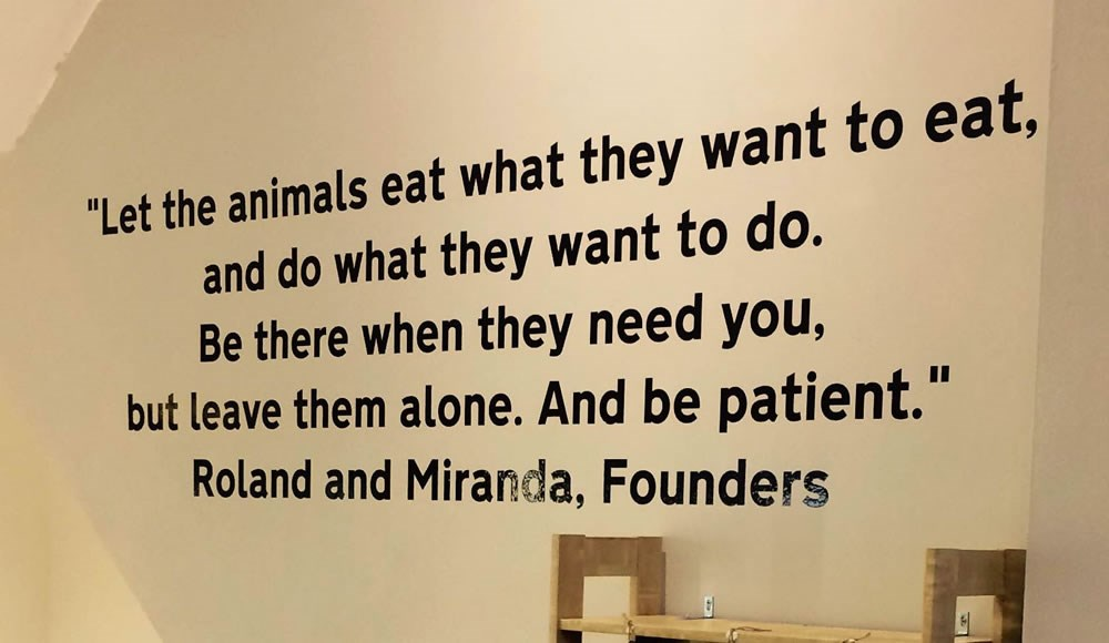 Let the animals eat what they want to eat...